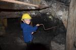 Visite de la mine de charbon souterraine